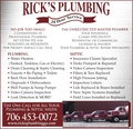 About Rick's Plumbing Service